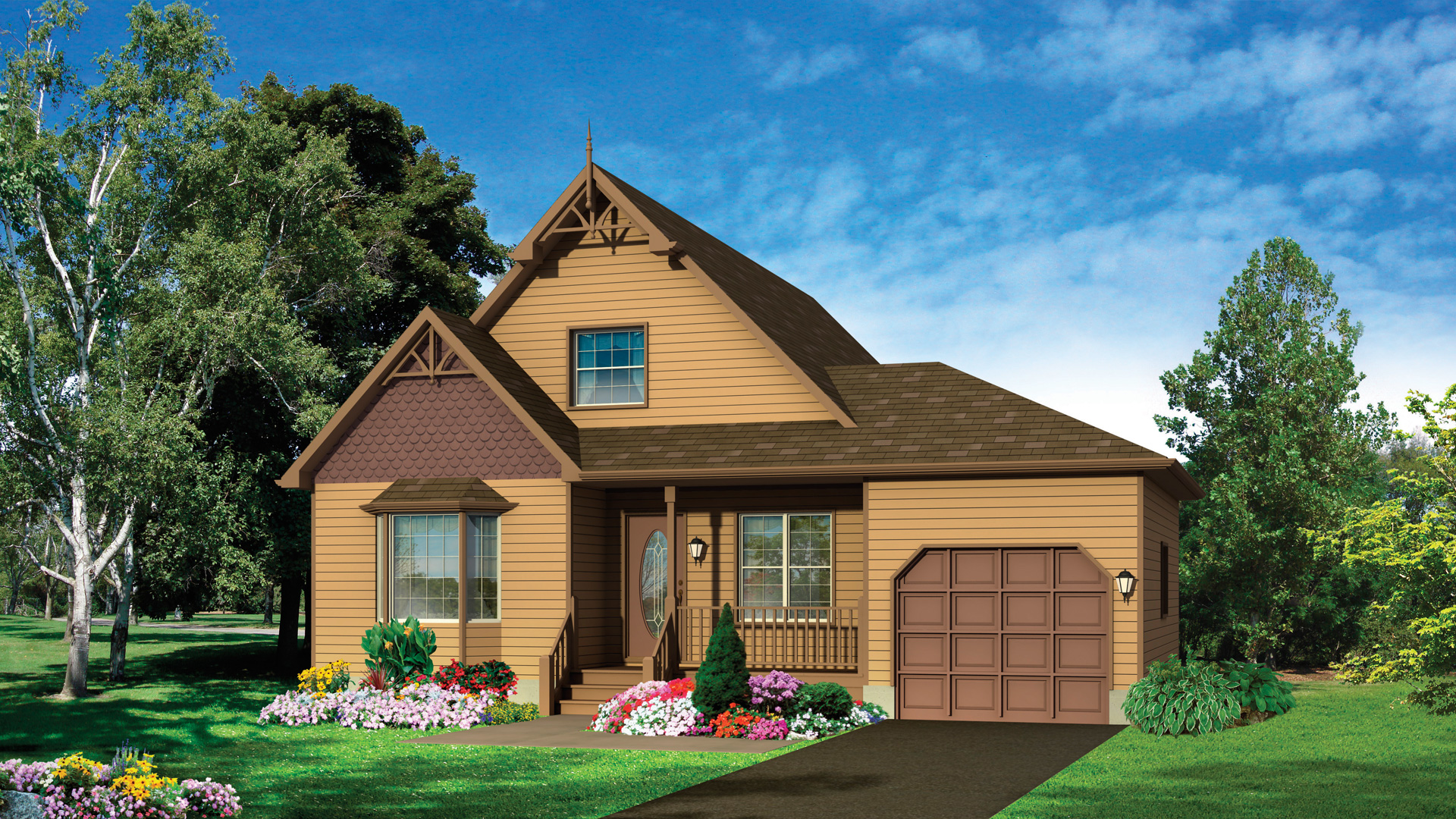 Front Elevation Design Program : Tiger lily model tradition house two storery